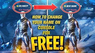 How to CHANGE your Fortnite Name on Console for FREE! PS4/XBOX! (KEEP ALL SKINS) (2018) (100% WORKS)