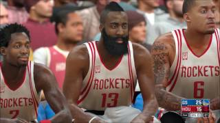 NBA 2K17 - Golden State Warriors vs Houston Rockets | Gameplay (PC HD) [1080p60FPS]