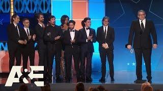 """""""The Big Short"""" Wins Best Comedy   2016 Critics' Choice Awards   A&E"""