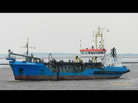 HEGEMANN 1 DQKQ IMO 9113070 Emden Germany Trailing suction hopper dredger Baggerschiff
