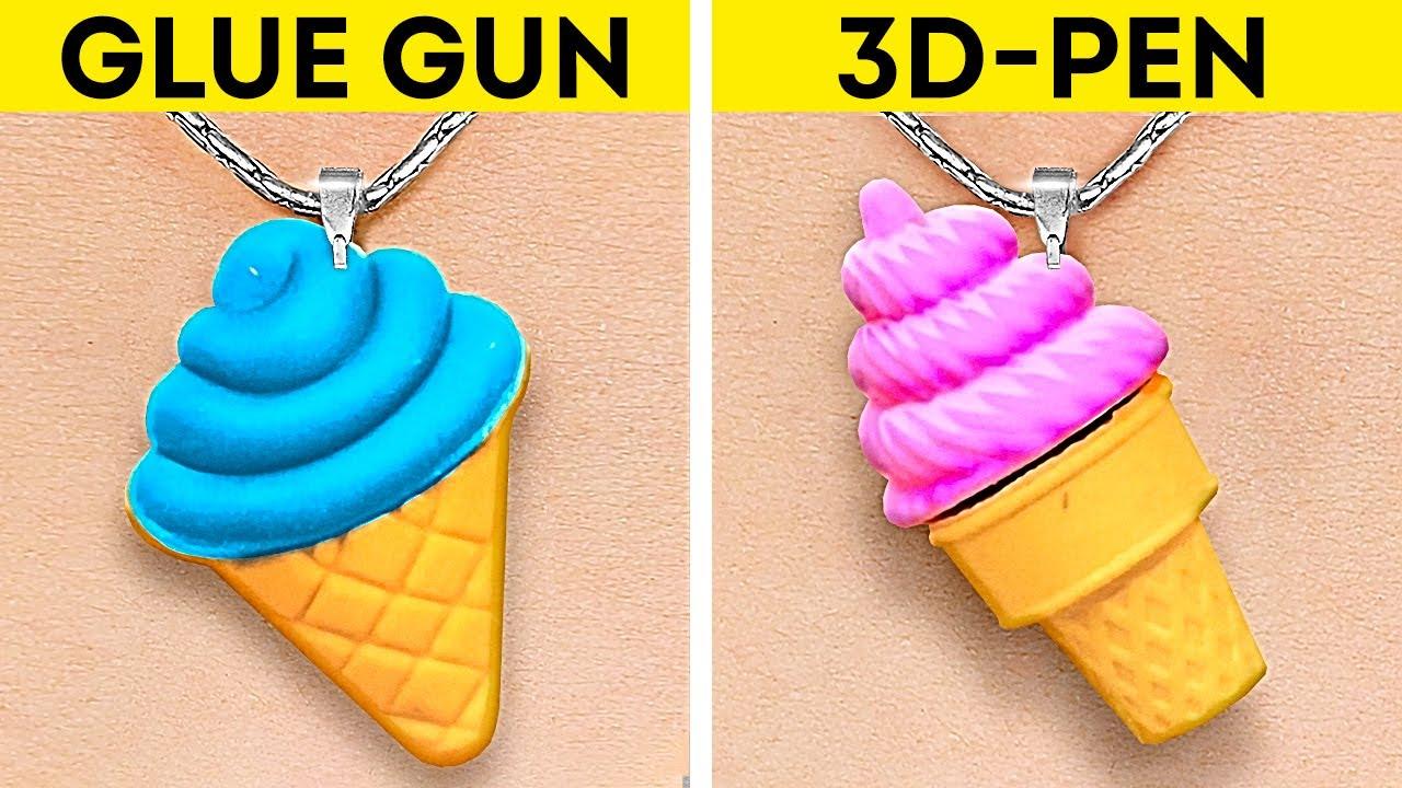 Download GLUE GUN VS. 3D-PEN || Easy Repair Tricks, Colorful DIY Jewelry And Cute Mini Crafts