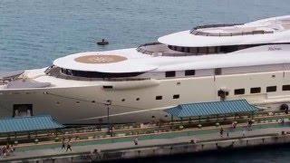 Video Billionaire David Geffen's 300 Million Dollar Pelorus Yacht Aerial View download MP3, 3GP, MP4, WEBM, AVI, FLV Desember 2017