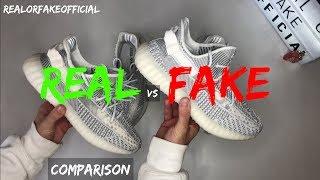 ADIDAS YEEZY 350 BOOST V2 STATIC COMPARISON REAL VS FAKE