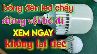 Cách sửa bóng đèn LED dễ dàng P2   How to fix led bulbs easily - Điện Nhà Quê