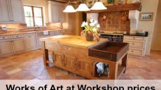 Custom Kitchen Cabinets, Tables, Chairs - English Country Pine
