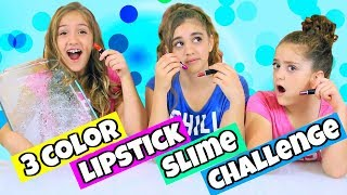 3 Colors of Lipstick Slime Challenge!