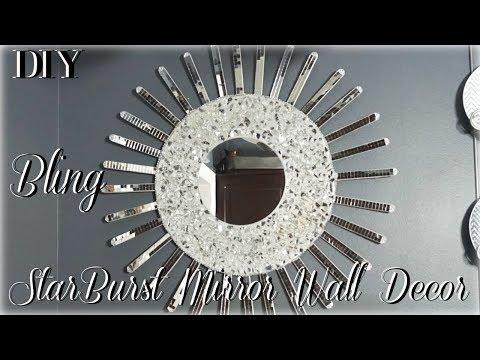 DIY STARBURST MIRROR WALL DECOR  DIY ROOM DECOR 2018  DIY WALL DECOR IDEAS  PETALISBLESS