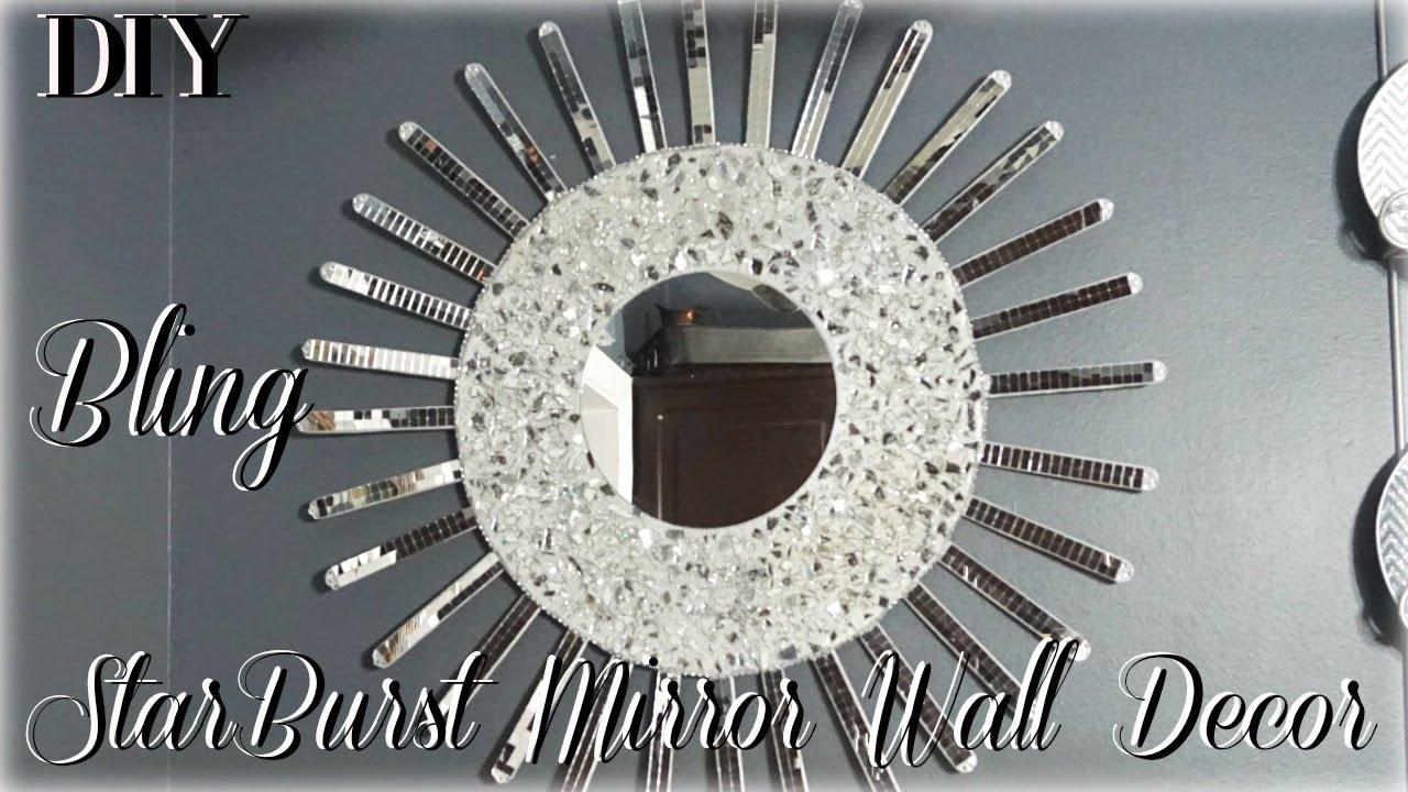Diy Starburst Mirror Wall Decor Diy Room Decor 2018 Diy Wall Decor Ideas Petalisbless Youtube