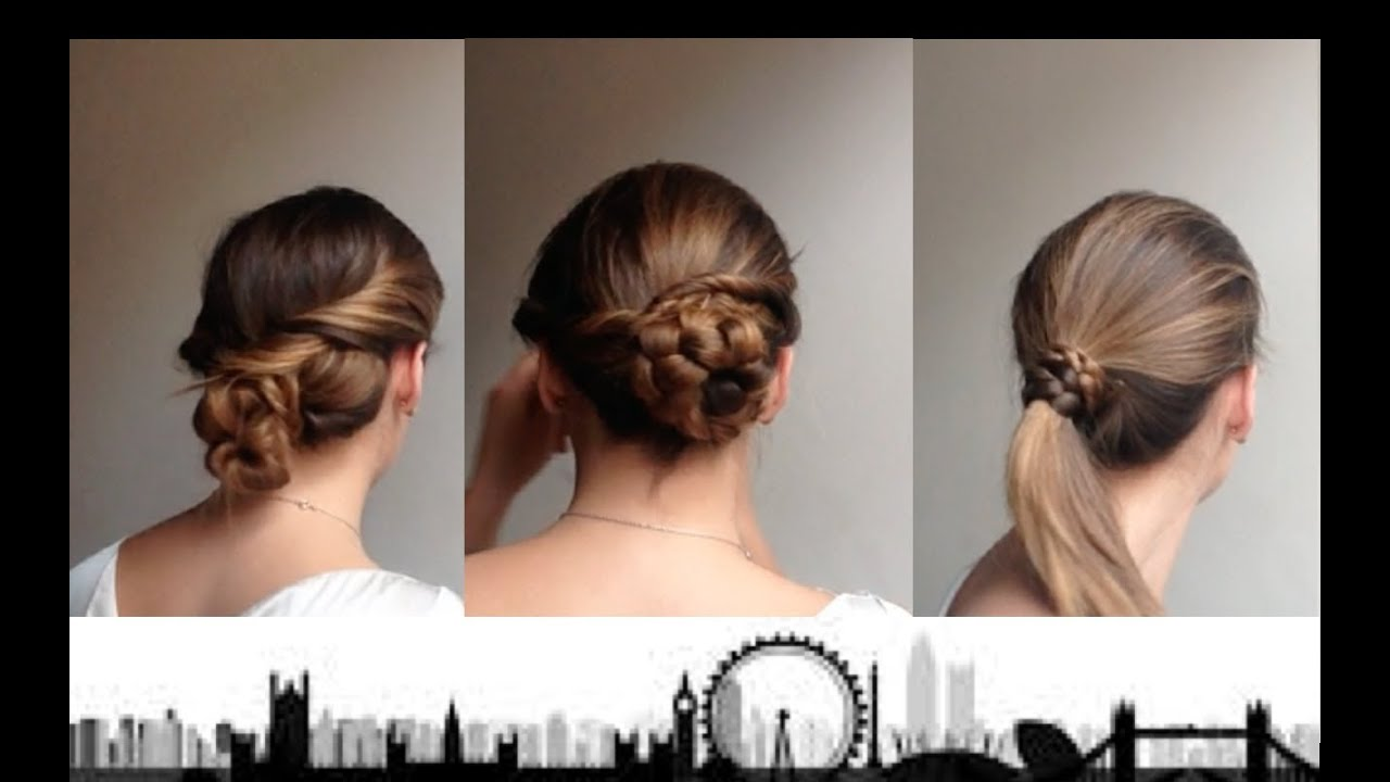 LONDON LIFE 3 Quick Office Hairstyles Part 1 YouTube