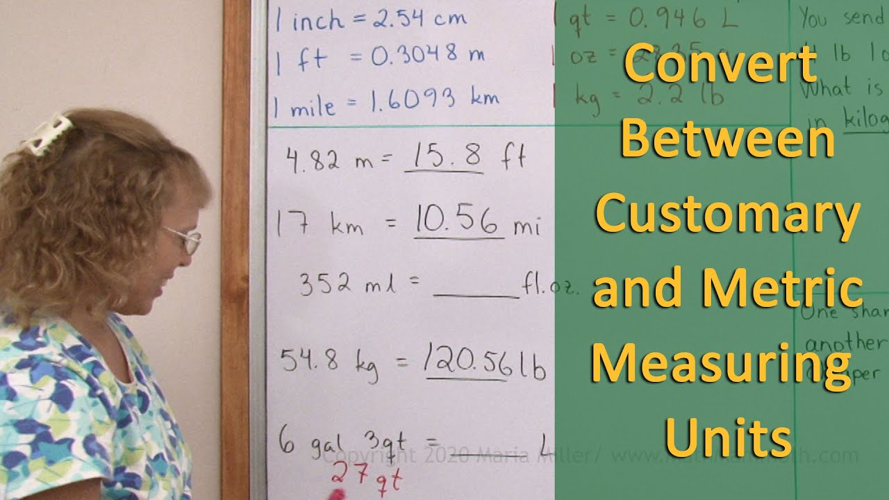 hight resolution of Convert between customary and metric units of measurement (6th grade math)
