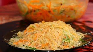 Фунчоза по-корейски с морковью и огурцом. Ну, оОчень вкусно!