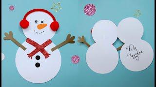SNOWMAN CARD 🎅🏼 CHRISTMAS 2020