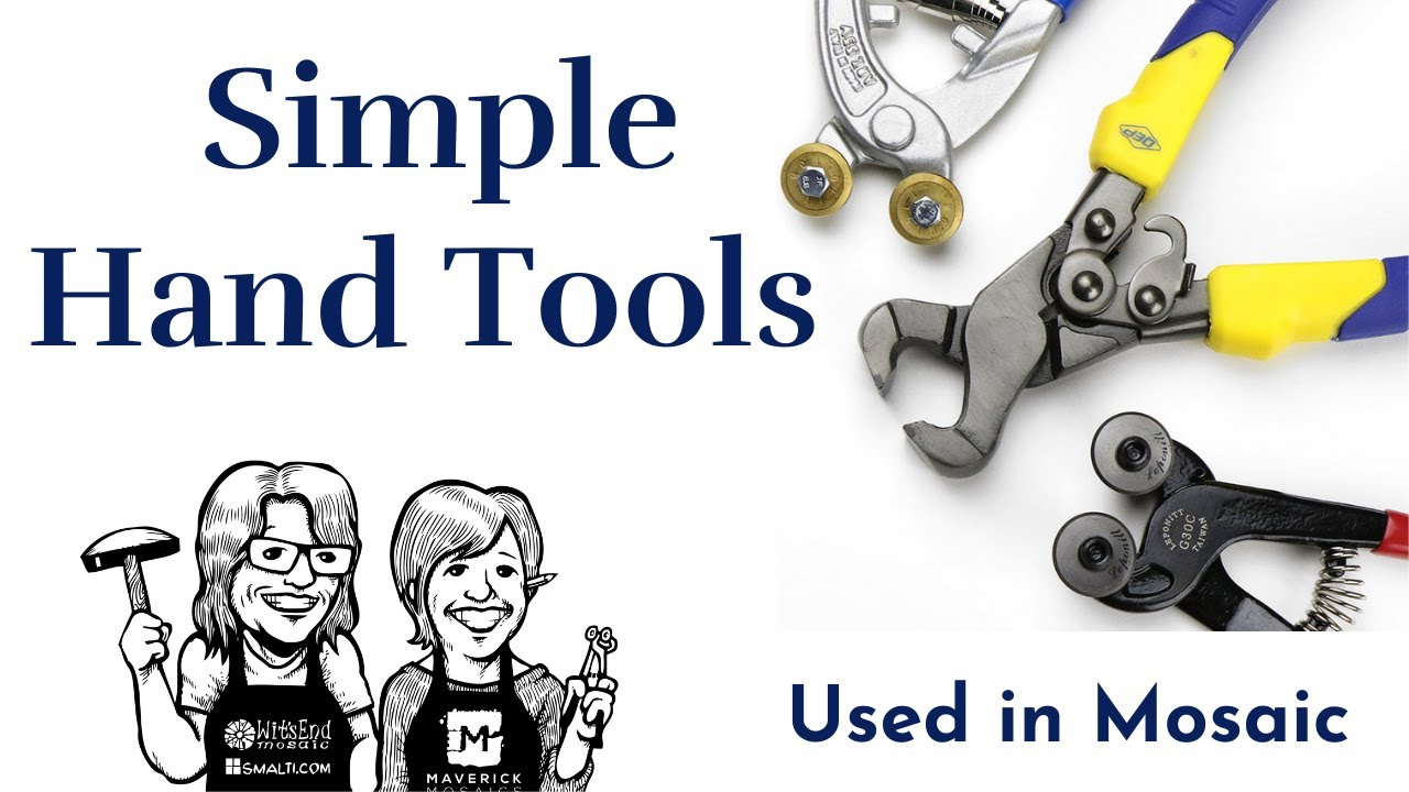 simple tools for cutting and nipping ceramic for mosaic video