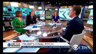 Eric Trump Holds His Own Against 3 Bias Media Hosts On CBS Election Day