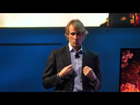 Michael Bay bombs at Samsung CES press conference