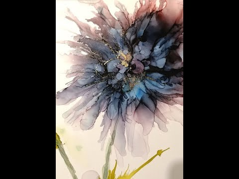 Alcohol Ink Flower tutorial