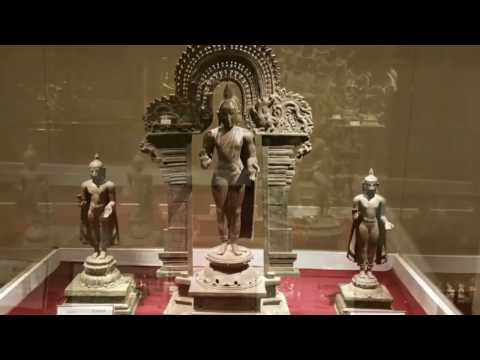 Bronze sculptures from ancient India. Antique statues