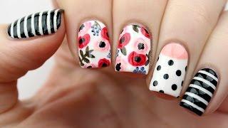 Floral Mix & Match Nail Art Tutorial