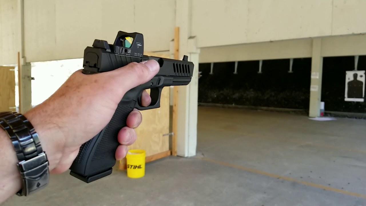 Glock 17 with Grey Ghost slide Trijicon RMR