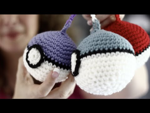 Easy Back To School Backpack Clip On Crochet Pokeball Youtube