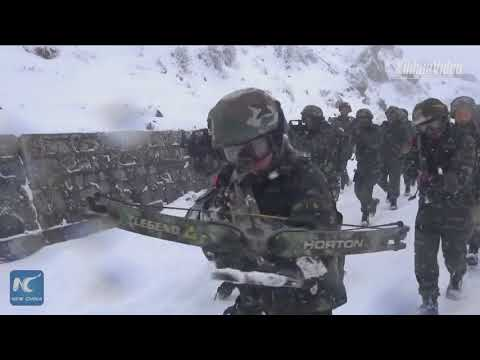 Chinese armed police in Sichuan receive winter training