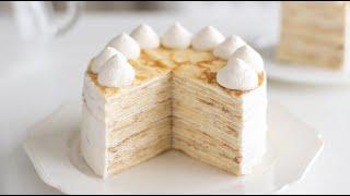 ミルクレープの作り方 Mille Crepe Cake|HidaMari Cooking
