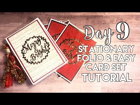 12 Days Of Christmas //Day 9: Stationery Folio and Easy Cards Tutorial thumbnail