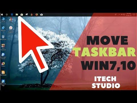 How To Move Taskbar- To Bottom , Windows XP, 7, 10
