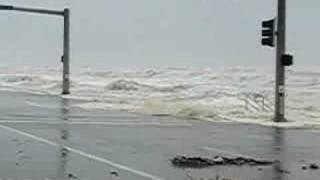 Hurricane Ike Swells onto Galveston Seawall