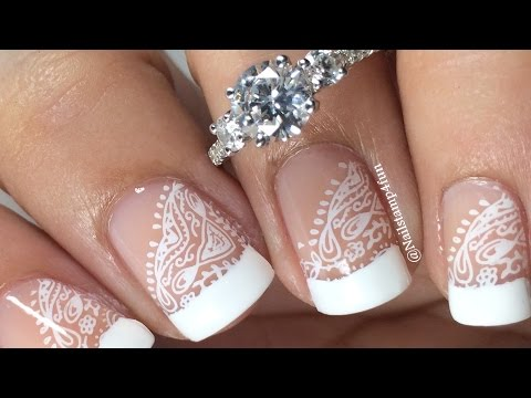 French Manicure with Lace Featuring James Allen Ring