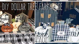 **REPOST**  DIY Dollar Tree Farmhouse  Fabric Decoupage