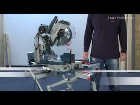 Видео обзор: Пила торцовочная BOSCH GCM 12 GDL