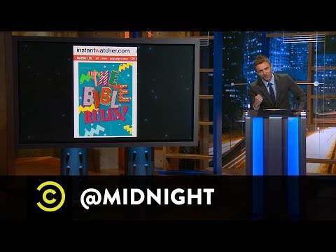 Aubrey Plaza, Paul Scheer and Rob Huebel - The Bible Rules! - @midnight with Chris Hardwick