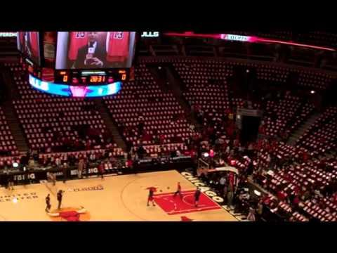 Chicago Bulls Derrick Rose Final Pregame Warmup 2012-2013 NBA Season Part 1