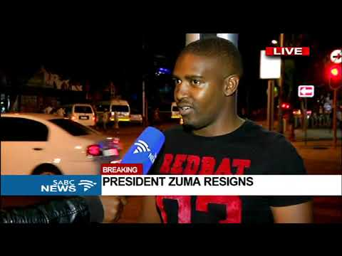 Excitement across the streets of PTA following Zuma's resignation