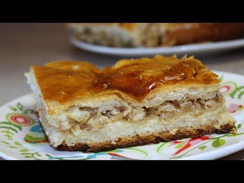 Пирог с капустой и мясом дрожжевой