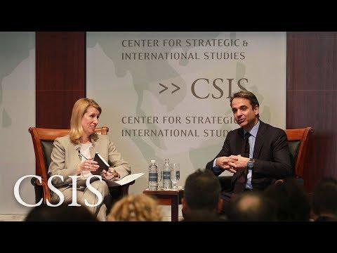 Global Leaders Forum: Kyriakos Mitsotakis, President of Greece's New Democracy Party
