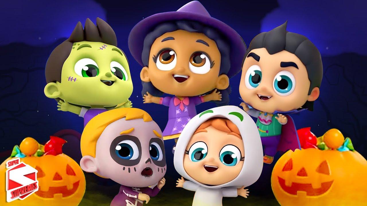 Five Little Monsters | Halloween Songs for Kids | Scary Nursery Rhymes | Spooky Cartoons - Kids Tv