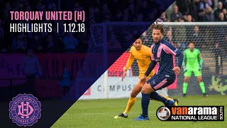 Dulwich Hamlet v Torquay United, National League South, 1/11/18 | Match Highlights