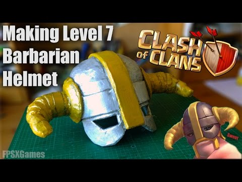 Making a Clash of Clans Level 7 Barbarian Helmet