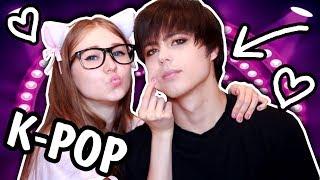 Крашу ПАРНЯ как K-Pop Айдола! Корейский МАКИЯЖ ЧЕЛЛЕНДЖ