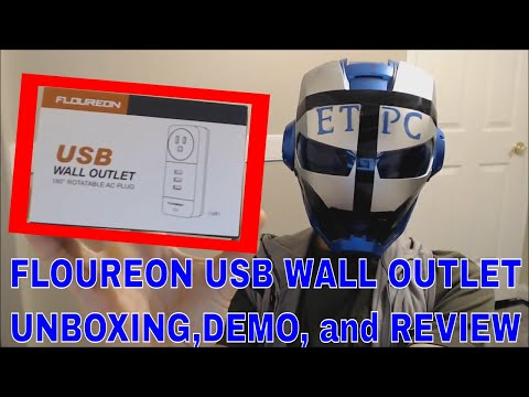 FLOUREON Power strip with 3 USB outlets UNBOXING, DEMONSTRATION AND REVIEW