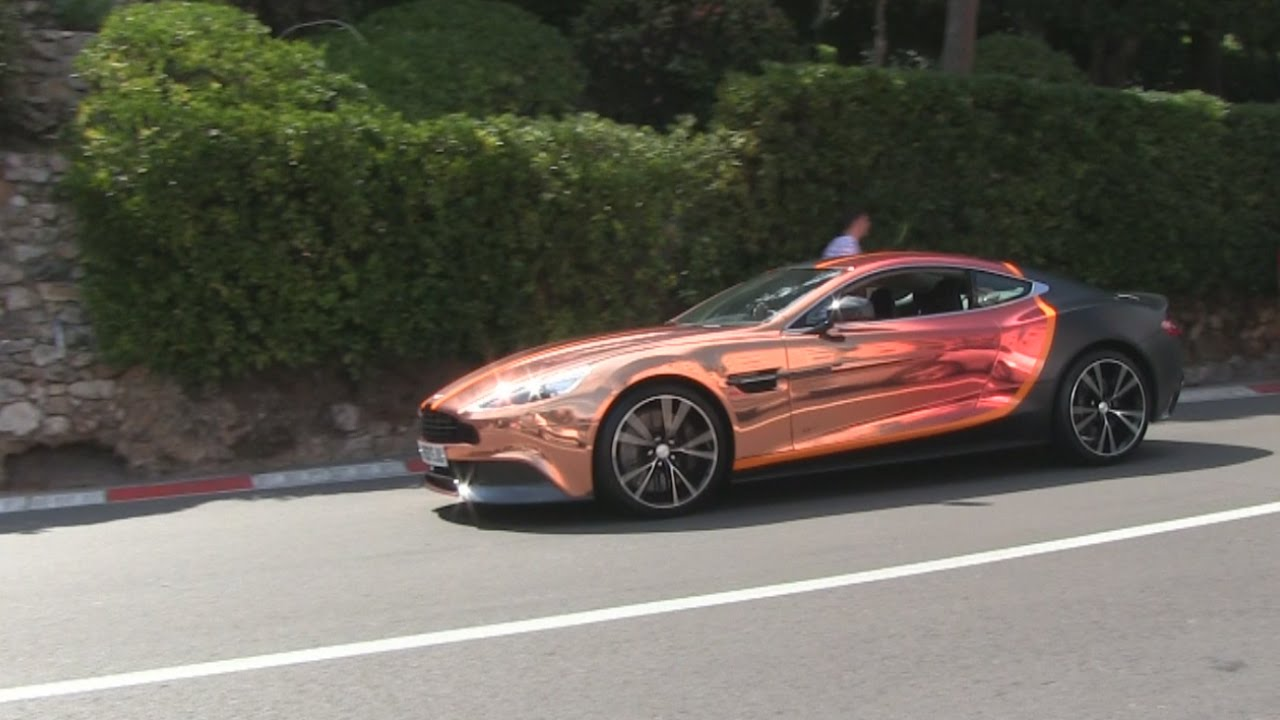 Aston Martin Vanquish W Crazy Chrome Orange And Matte Black Wrap