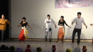 Ekai Nungsi Yanare Dance performed by DU college students.. Freshers meet 2016