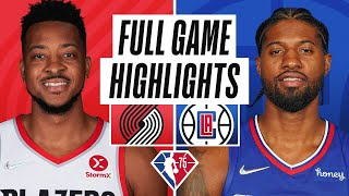 TRAIL BLAZERS at CLIPPERS   FULL GAME HIGHLIGHTS   October 25, 2021