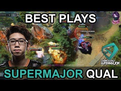China Dota2 Supermajor BEST PLAYS QUAL Highlights by Time 2 Dota #dota2