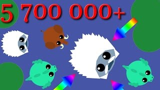 Mope.io all animal ||  The biggest yeti in the world || 5000k+ || Incredible record