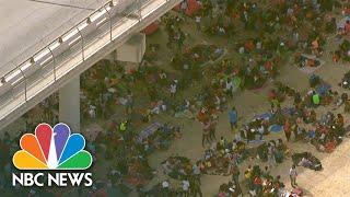 Thousands Of Migrants Shelter Under Bridge In Texas