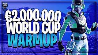 ZO OEFEN ik voor €2.000.000 FORTNITE WORLD CUP...