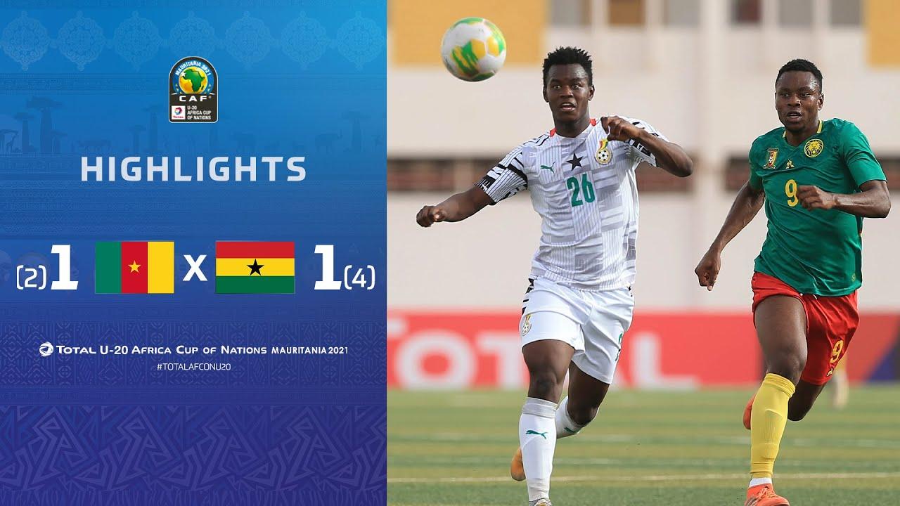 HIGHLIGHTS   Total AFCONU20 2021   Quarter Final 1: Cameroon 1 (2) - (4) 1 Ghana